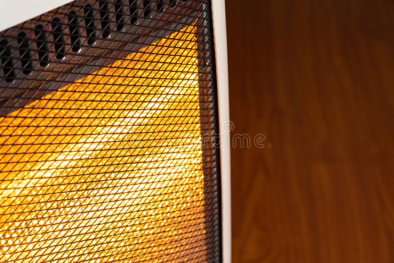 Electric heater working stock images
