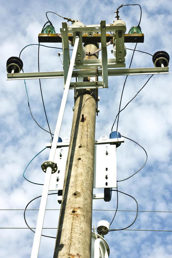 Download Electric high voltage post stock photo. Image of transmission - 26510760