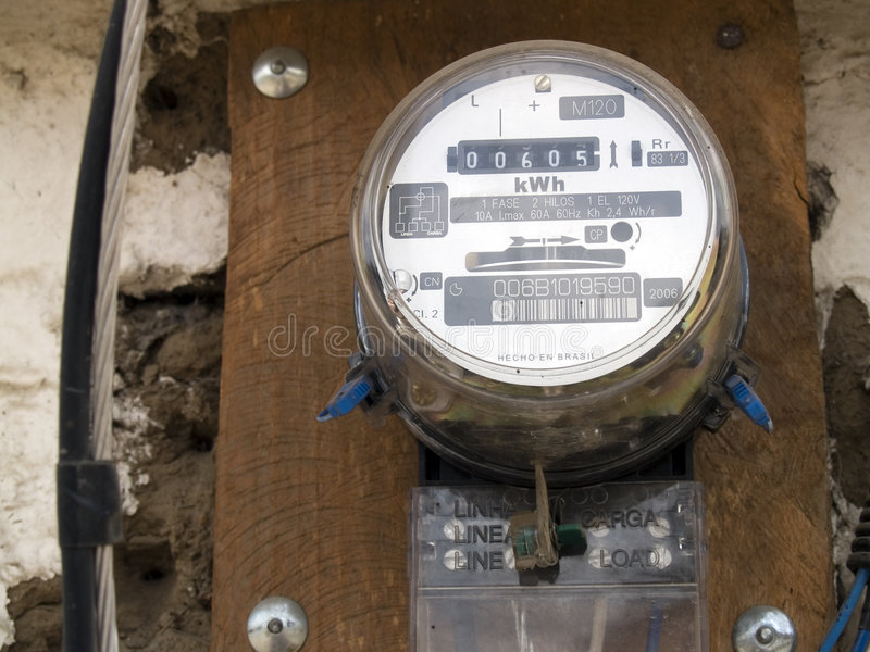 Download Electric household meters stock image. Image of outdoors - 2929759