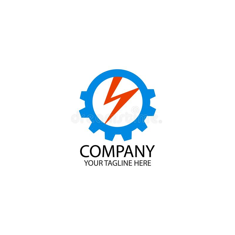Electric with initial A Logo Design inspiration royalty free illustration