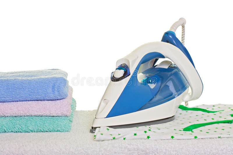 Electric iron and ironed clothes