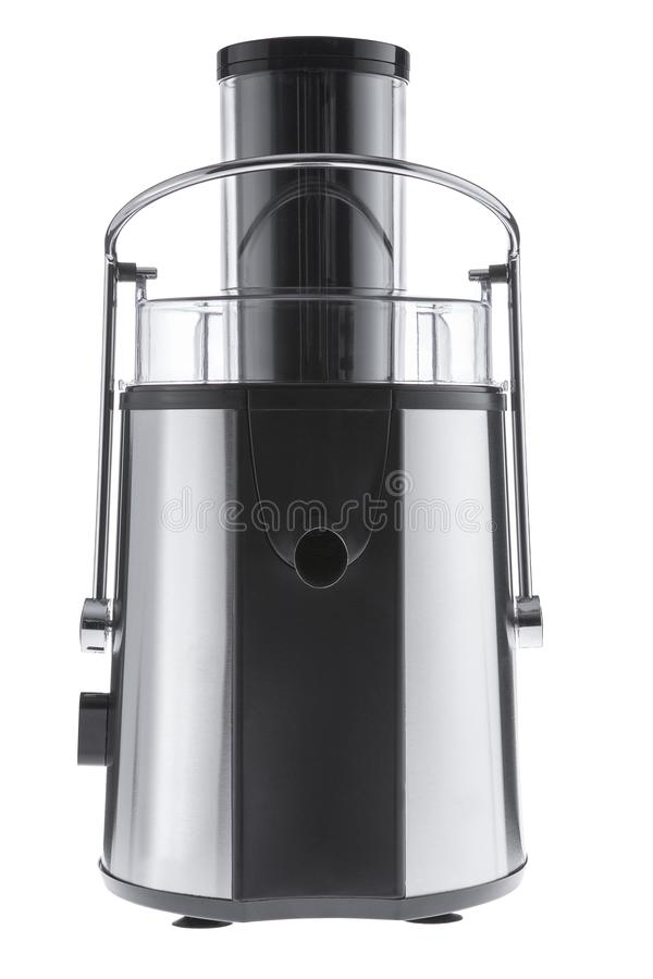 Electric juice extractor isolated on the white background, cut out stock photography