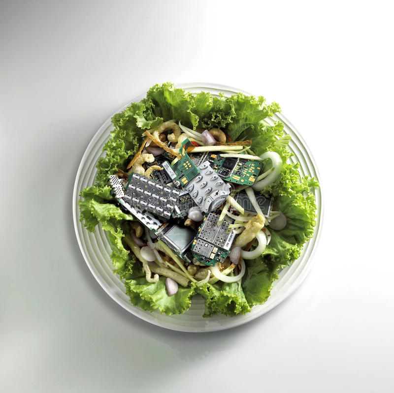 Electric junk royalty free stock image