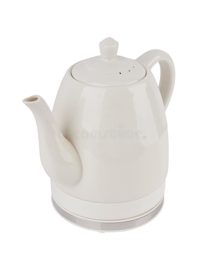 Electric kettle isolated royalty free stock photo