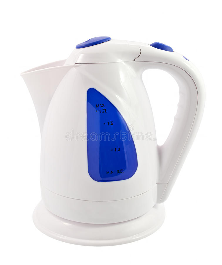 Electric kettle isolated. Over white stock photography