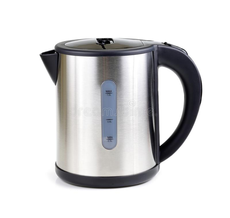 Electric kettle isolated on white background.  royalty free stock photo