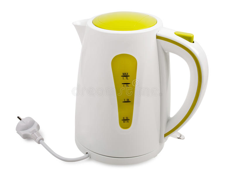 Electric kettle stock image