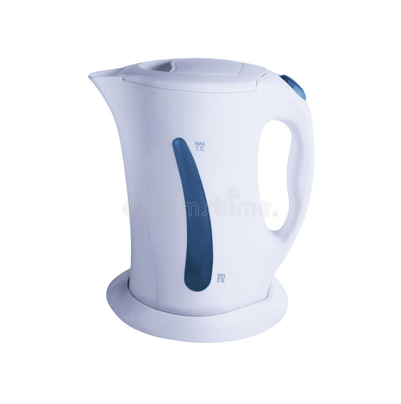 Electric kettle isolated. On a white background stock photos