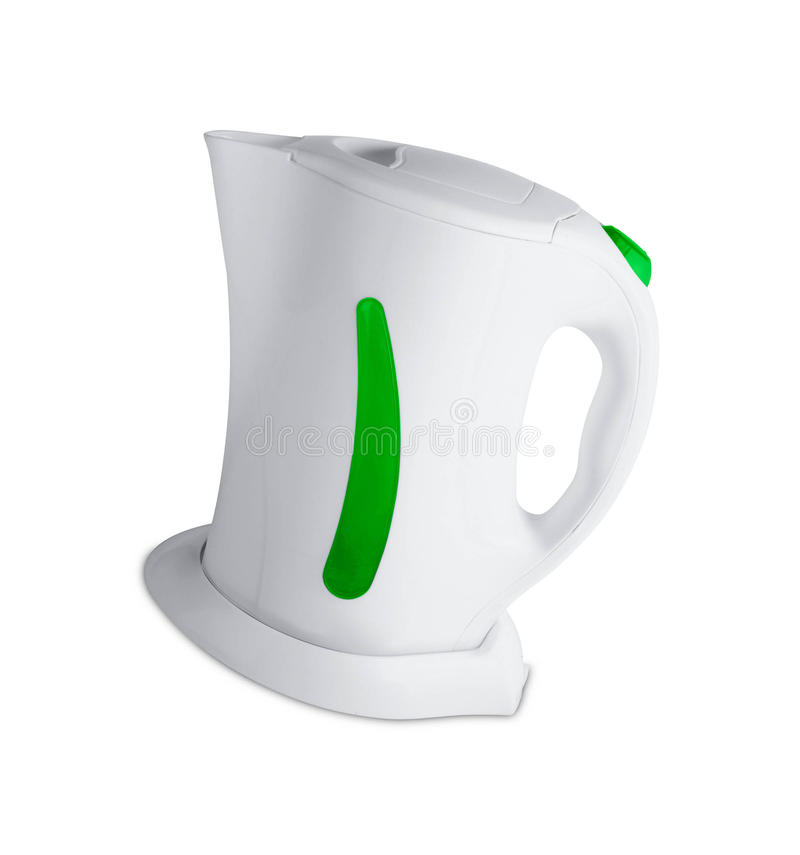 Electric kettle isolated. On white background royalty free stock photos