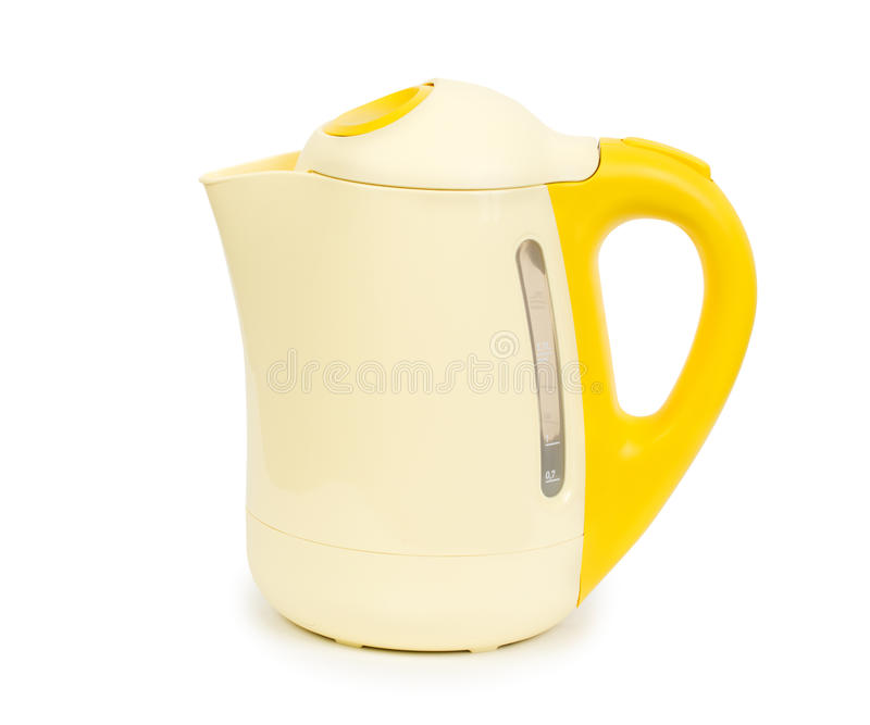 Electric kettle isolated on white background with clipping path royalty free stock photography