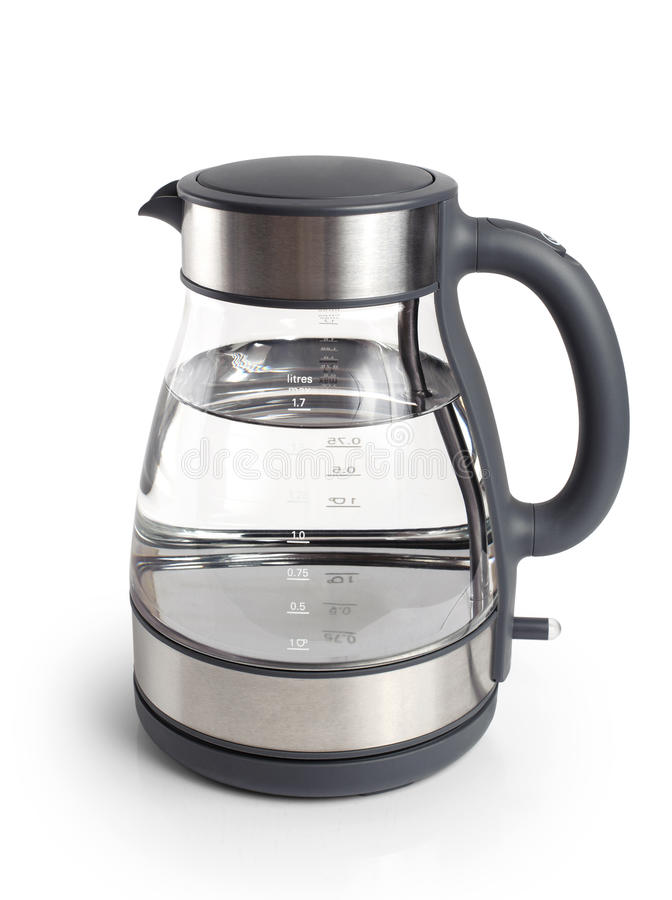 Electric kettle isolated on white background. Close up royalty free stock photo