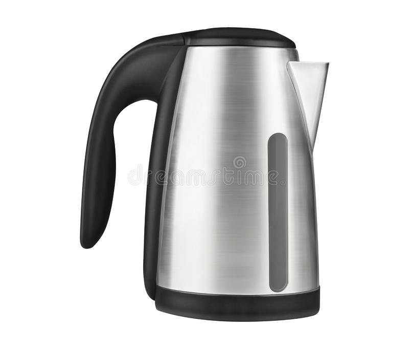 Electric kettle isolated on white. Background royalty free stock photo