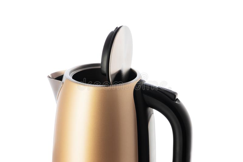 Electric kettle jug isolated on white background.  royalty free stock photo