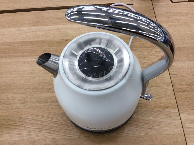 Kitchen appliances shop, electric kettle stock images