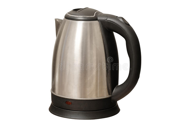 Electric kettle. On a table royalty free stock photography