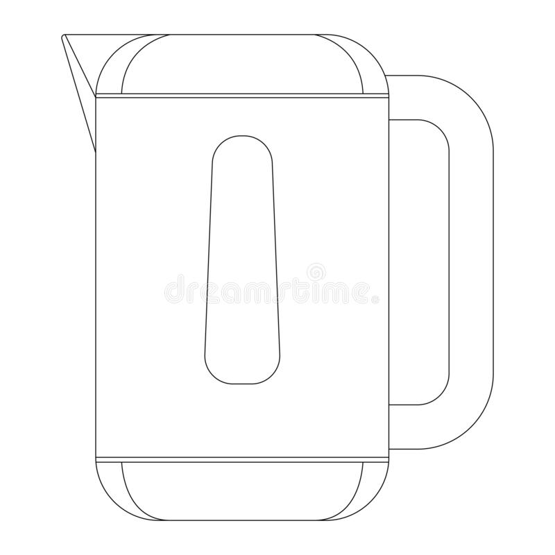 Coffee Plastic Cup Vector Illustration Flat Style Front