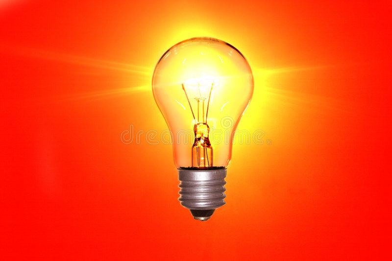 Electric lamp royalty free stock photo