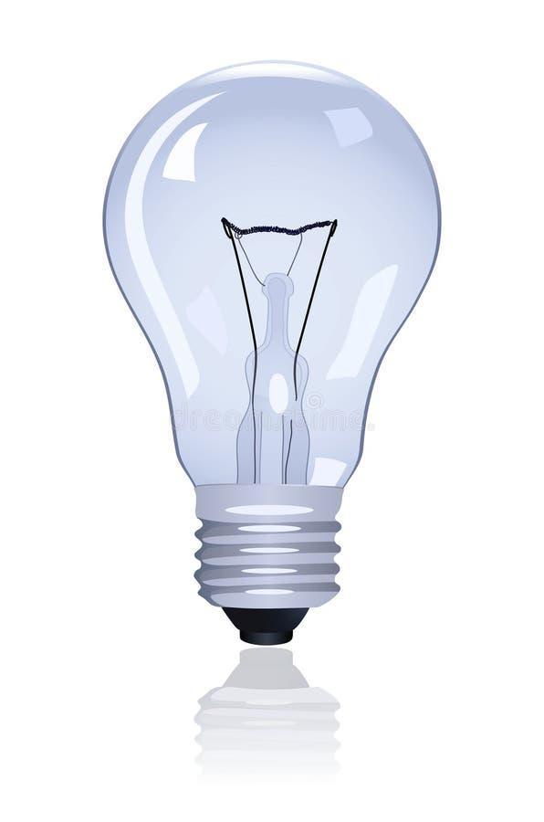 Electric lamp. On white background. Vector illustration stock illustration