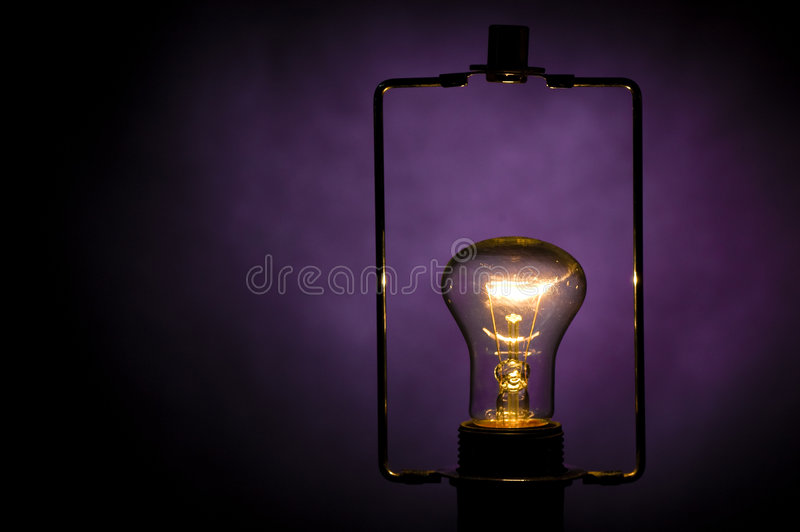 Electric lamp. stock image