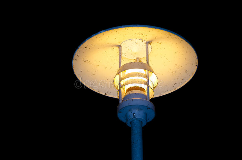Electric lamp light in the night stock images