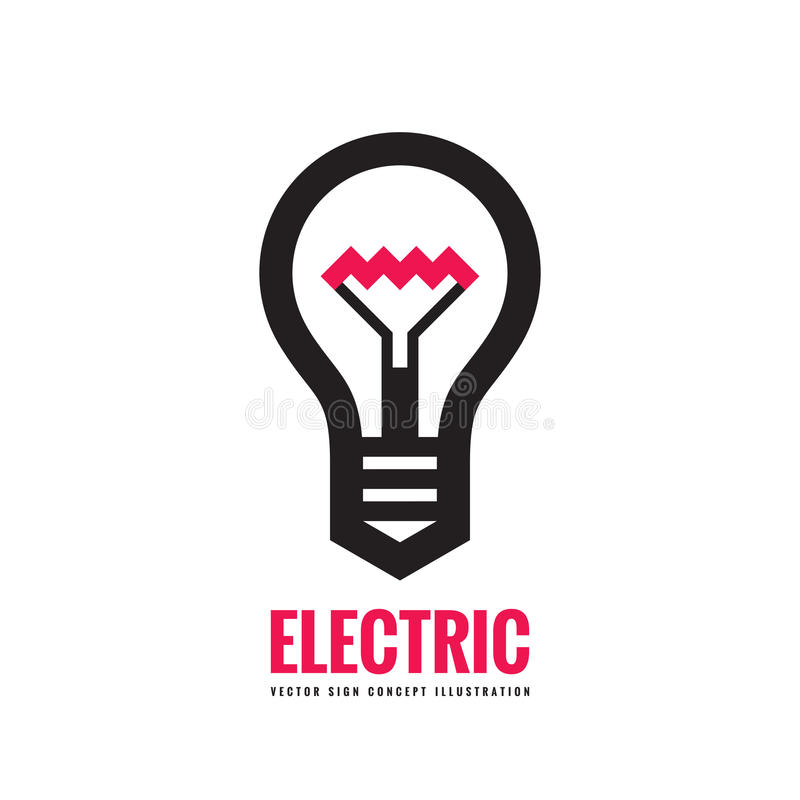 Electric lamp - vector logo template concept illustration. Lightbulb creative sign royalty free illustration