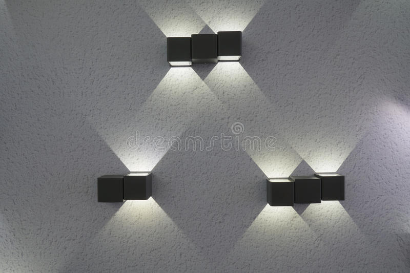 Electric lamps on the wall royalty free stock images