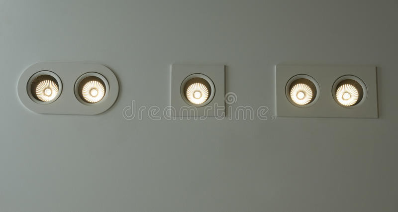 Electric led lamps royalty free stock photos