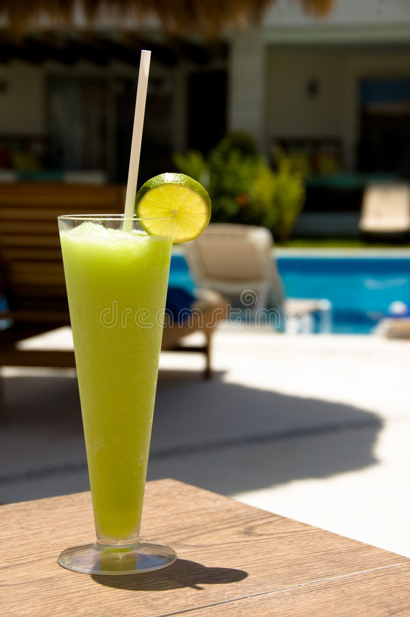Electric Lemonade by the Pool royalty free stock image