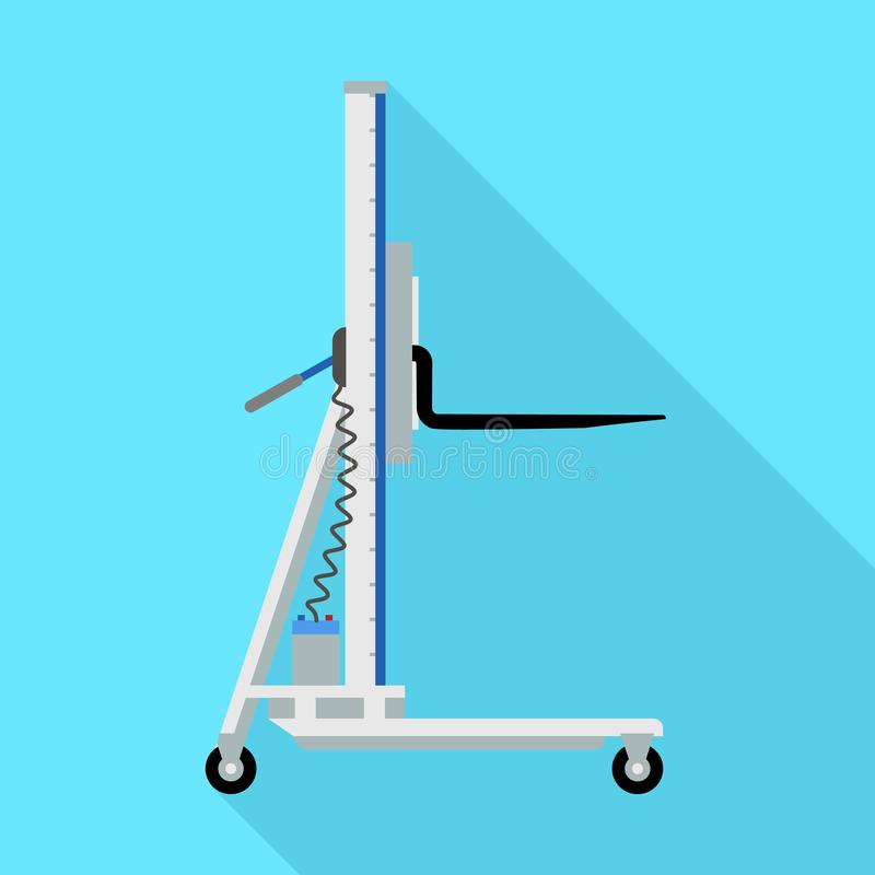 Electric lift cart icon, flat style vector illustration