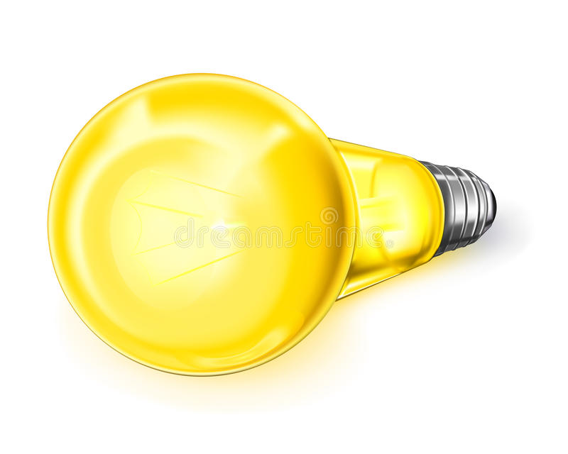 Electric light. Isolated objects mesh stock illustration