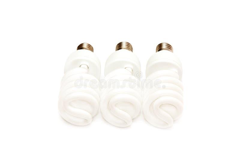 Electric light bulbs stock photos