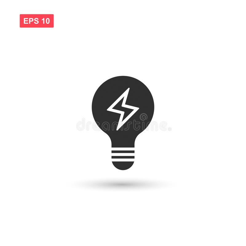 Electric light bulp icon vector isolated 4. Eps10 royalty free illustration