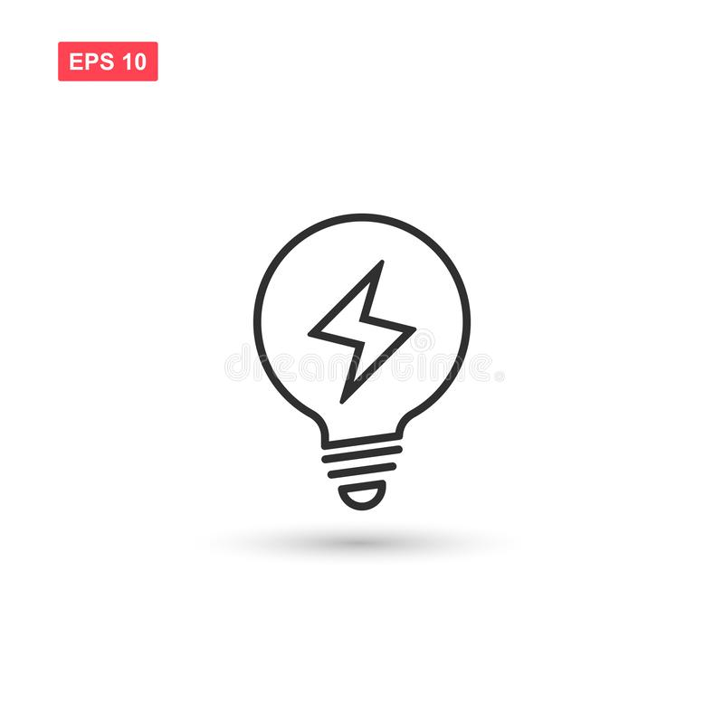 Electric light bulp icon vector isolated 8. Eps10 vector illustration