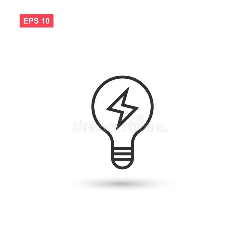 Electric light bulp icon vector isolated 3. Eps10 stock illustration