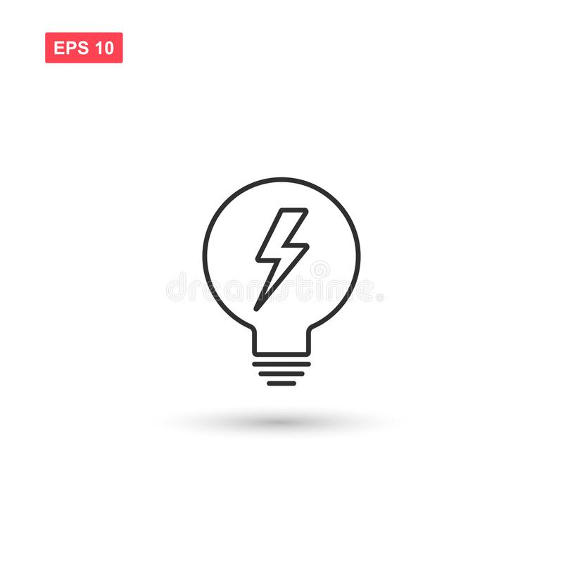 Electric light bulp icon vector isolated 2. Eps10 stock illustration