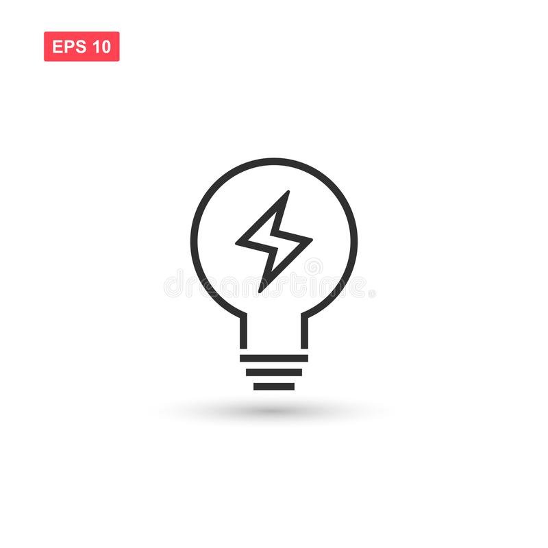 Electric light bulp icon vector isolated 6. Eps10 stock illustration