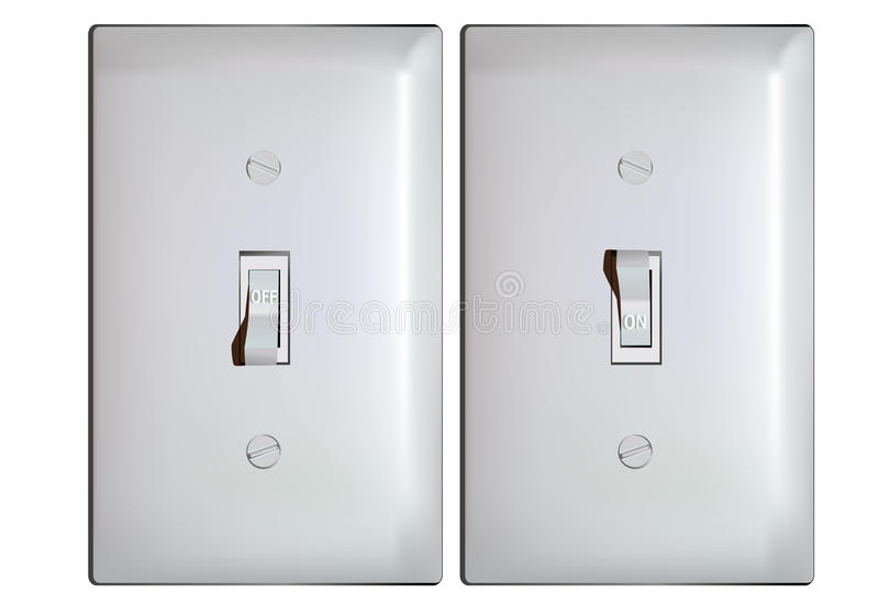 Electric Light Switch In ON And OFF Positions Stock Vector ...