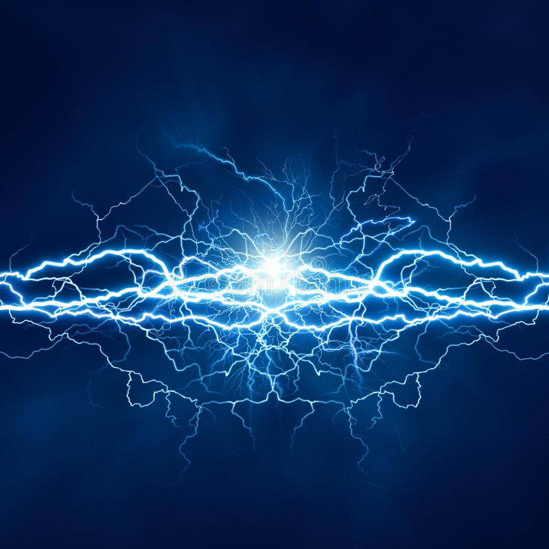 Electric lighting effect royalty free illustration