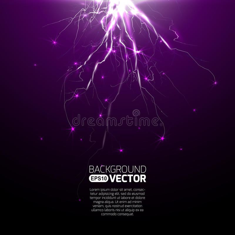 Electric lighting effect, abstract techno backgrounds royalty free illustration