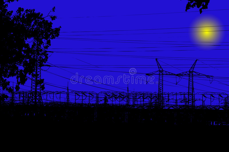 Electric main stock illustration