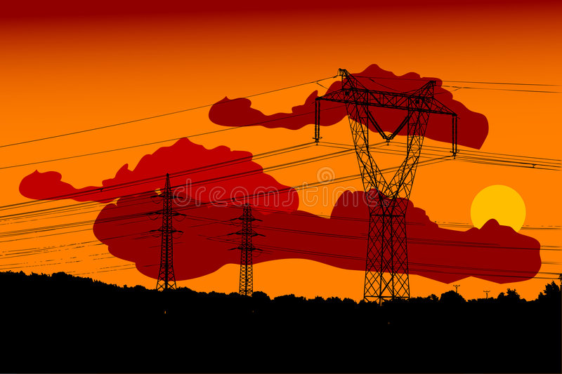 Electric main vector illustration