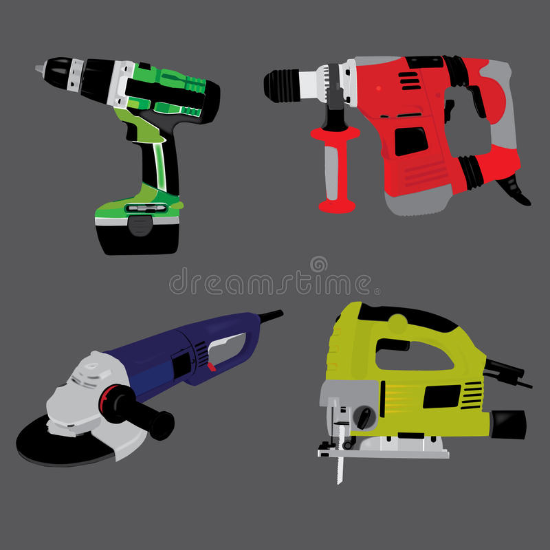 Electric Manual Tools Royalty Free Stock Photo