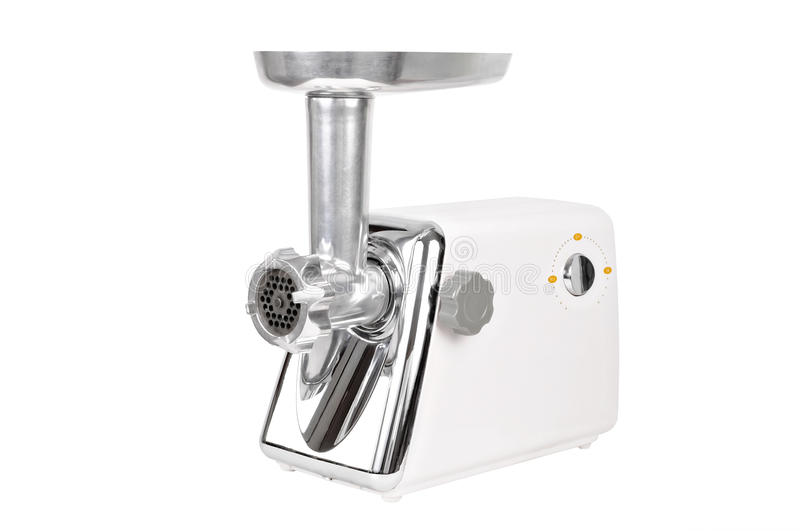 Electric meat grinder stock image