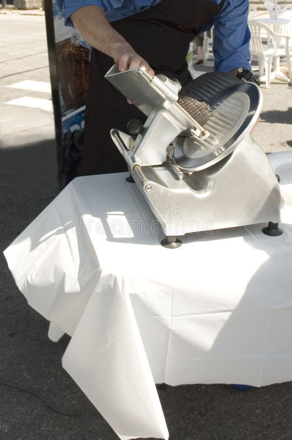Download Electric meat slicer stock image. Image of blade, metal - 988581