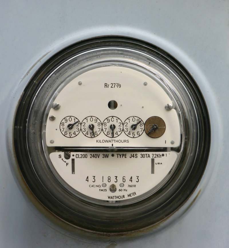 Download Electric Meter stock photo. Image of electricity, home - 126528