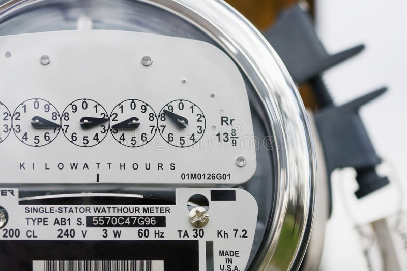 Download Electric Meter stock image. Image of technology, green - 4674885