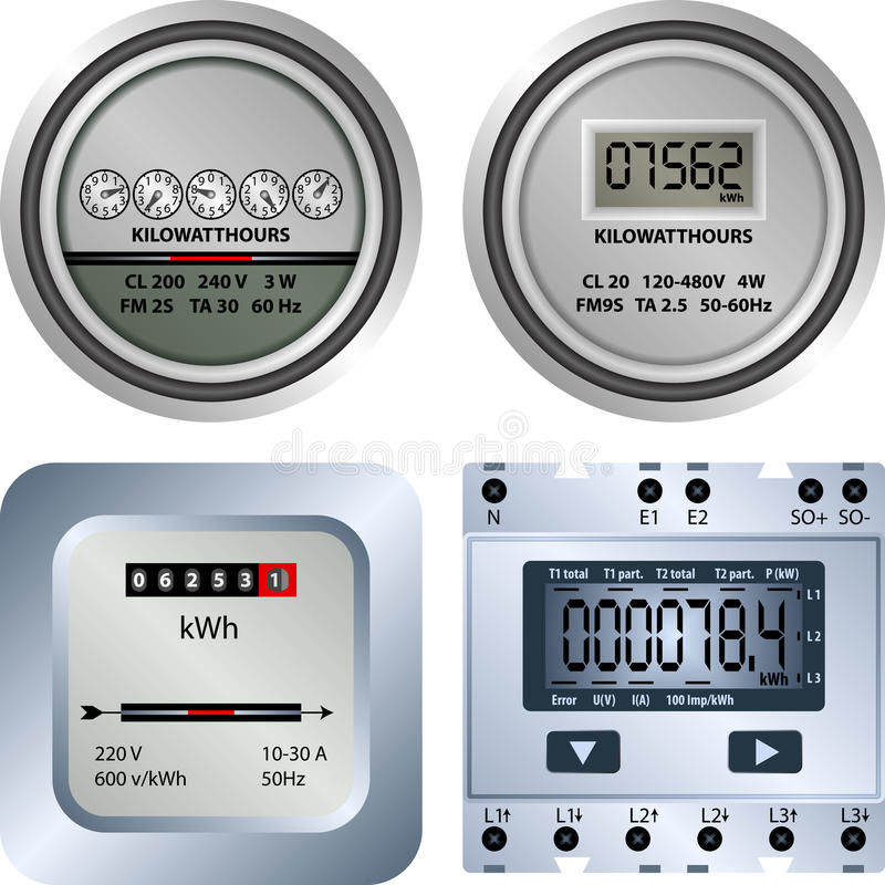 Electric meter royalty free illustration