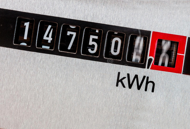 Electric meter stock photography