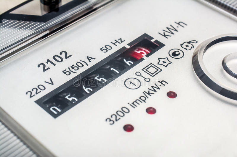 Electric meter. royalty free stock photo