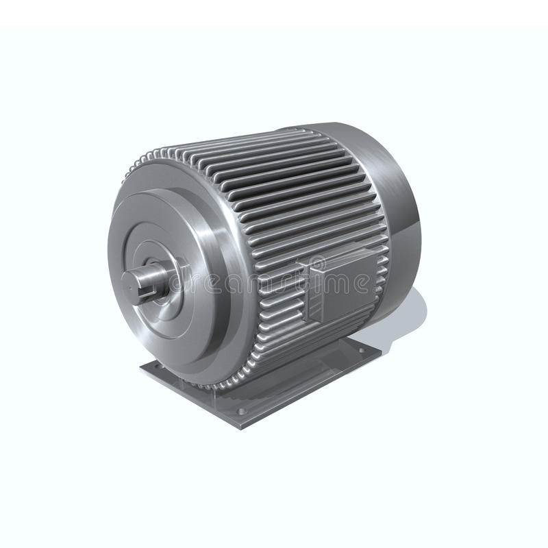 Electric motor. 3d render image with a electric motor vector illustration